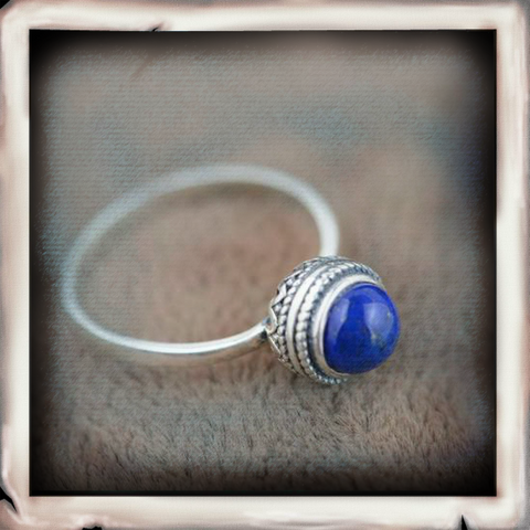 IDAN Elegant Style With Natural Stones Ring - Indigo-Temple
