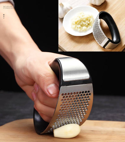 Quick-and-Easy Stainless Steel Rocking Garlic Mincer