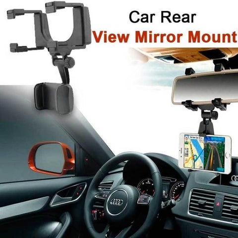 Rear View Mirror Universal Smartphone Car Mount
