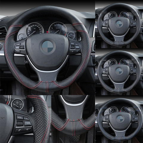 DIY Genuine Leather Steering Wheel Cover