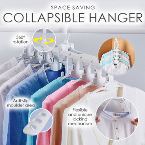 8 in 1 Space Saving Collapsible Hanger
