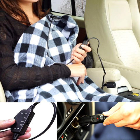 Car Powered Electric Heated Blanket