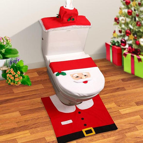 Christmas Toilet Seat Cover sets - Indigo-Temple