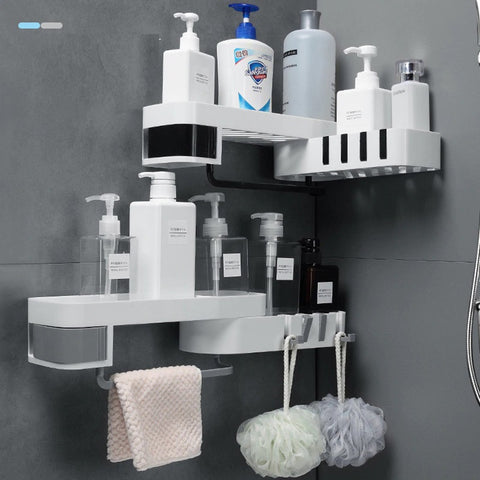 NeatMaster™  Drill-Free Wall Mounted Corner Shower Shelf