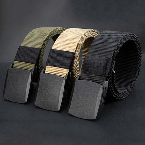 Military Grade Polymer Buckle Tactical Belt - Indigo-Temple