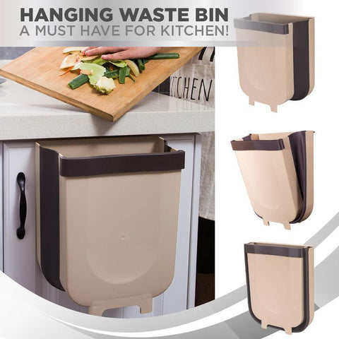 Kitchen Space-Saving Foldable Hanging Garbage Bin