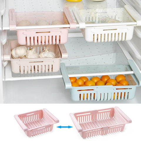 Resizable Pull-out Refrigerator Storage Box *2 pcs*