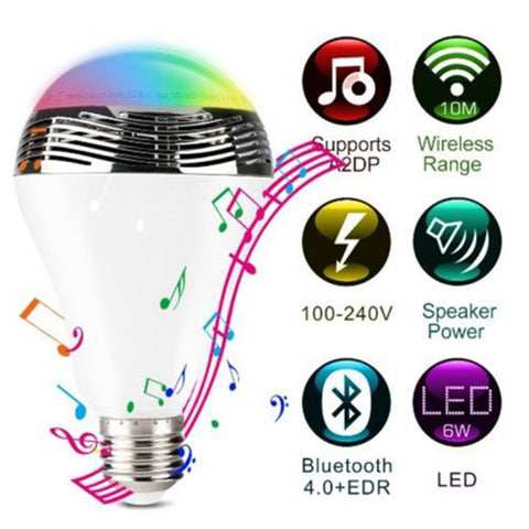 Smart B.T LED Bulb With Audio Speakers - Indigo-Temple
