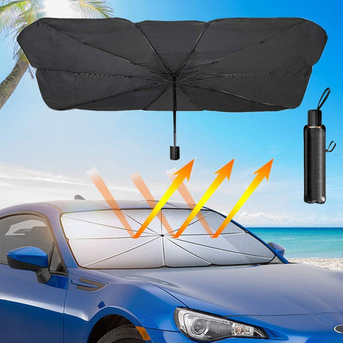 CoolBrella™ Interior Windshield Sunshade UV Umbrella