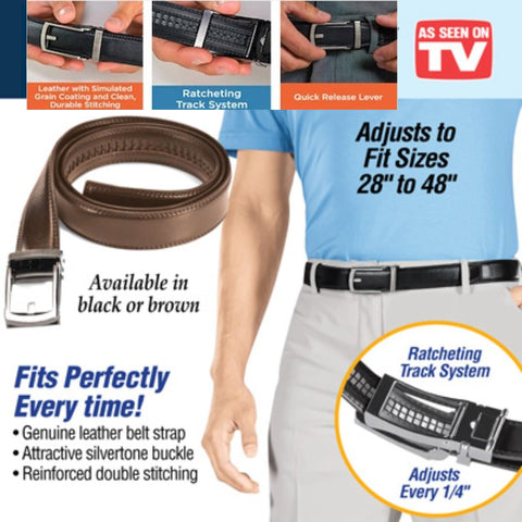 QUICKCLICK™ NO HOLES PERFECT FITTING LEATHER BELT