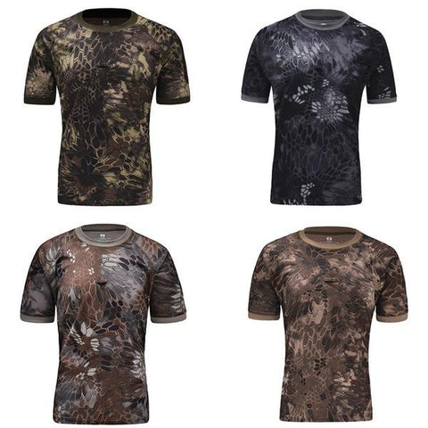 Camouflage Quick Dry Man T-shirt (7 colors)