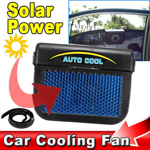 Solar-Powered, Window-Mounted Automatic Car Cooler