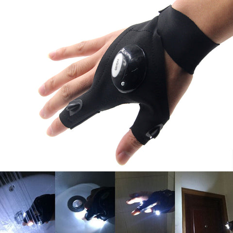 Multifunctional LED Flashlight Gloves
