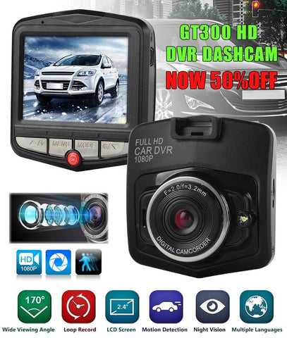 GT300 Full-HD Car DVR Recorder Dashcam