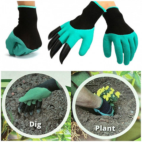 Garden Gloves with 4 Claws