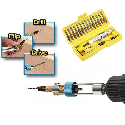 FlipBIt™ - 20 Pcs Multi-Drill & Screwdriver Set - Indigo-Temple
