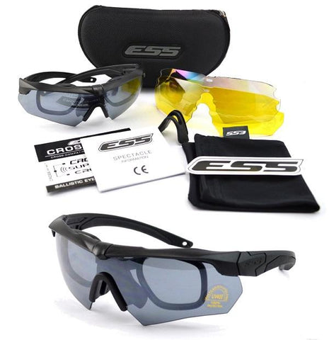 CROSSBOW -TACTICAL POLARIZED BALLISTIC GLASSES (3 LENS KIT)