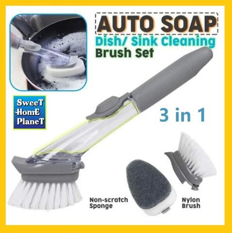 EZ Scrubber™  3 in 1 Cleaning Brush & Scrubber With Soap Dispenser