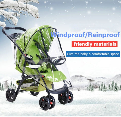 Universal Stroller Windproof And Rainproof Cover - Indigo-Temple