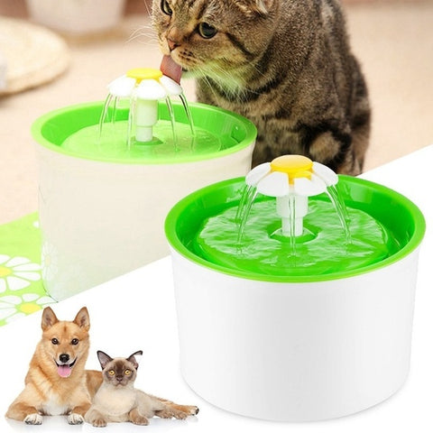 Flower Fountain - Cats And Dogs Water Dispenser - Indigo-Temple