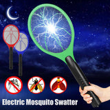 Handheld Electric Mosquito Zapping Racket - Indigo-Temple