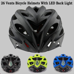 Pro Bicycle Helmets With LED Back Light