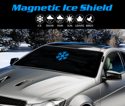 ICE SHIELD - Full Protection Magnetic Windshield Cover - Indigo-Temple