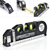 Multipurpose 7-IN-1 Level/Laser Horizon/Measuring Tape Tool - Indigo-Temple