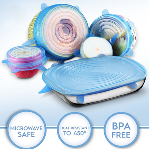 "Smart Kitchen ""Stretch & Seal"" Lids (6 pcs set)"