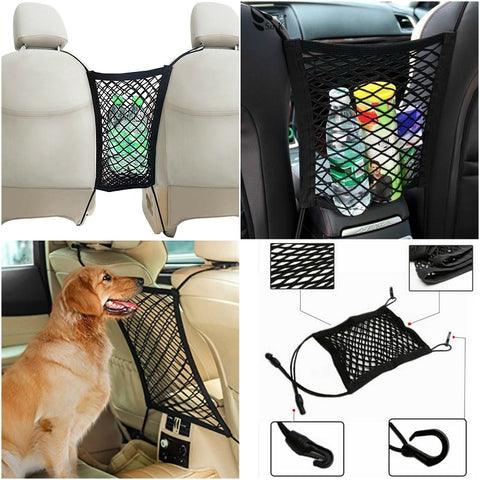 2 In 1 Car Net Organizer & Pet Barrier - Indigo-Temple