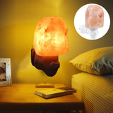 Himalayan crystal salt rock lamp