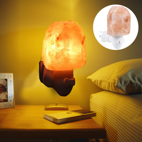 Himalayan crystal salt rock lamp - Indigo-Temple