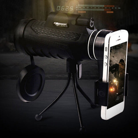 40X60 HD Monocular With A Phone Tripod