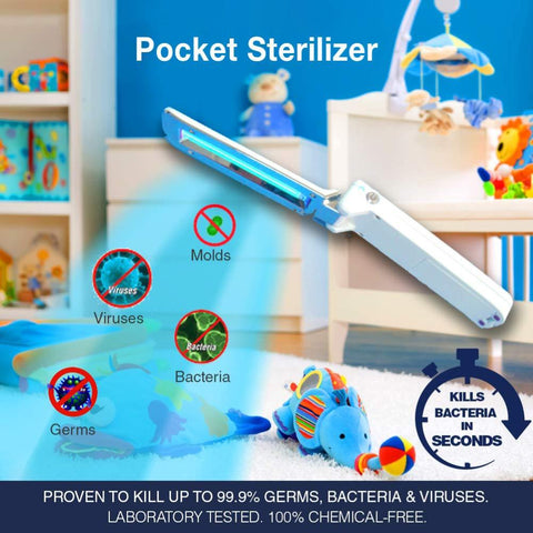 FOLDABLE GERMICIDAL ULTRAVIOLET POCKET STERILIZER