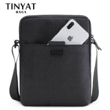 TINYAT™ Triple-Layer Casual Messenger Bag - Indigo-Temple