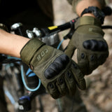CQB Outdoor Tactical Gloves - Full Finger - Indigo-Temple