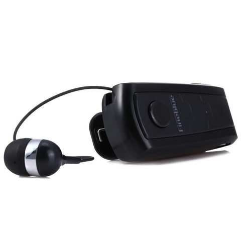Hands Free Wear Clip Vibrating Bluetooth V4.0 Earphone - Indigo-Temple