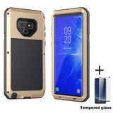 Heavy Duty Protection Metal phone Case for Samsung Galaxy - Indigo-Temple