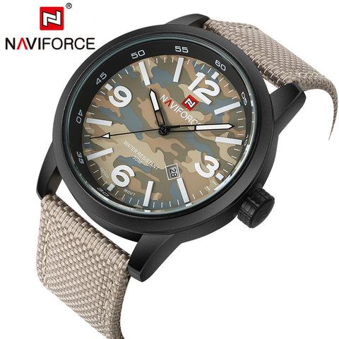 Military Fabric Strap Wristwatch ( 4 colors )