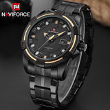 Full Steel  Military  Quartz Wrist Watch