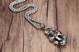 Eclipse -  Stainless Steel Anchor Pendant Necklace,Silver