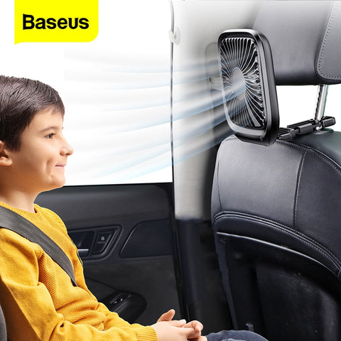 Baseus™ Portable Silent Back Seat USB Cooling Fan