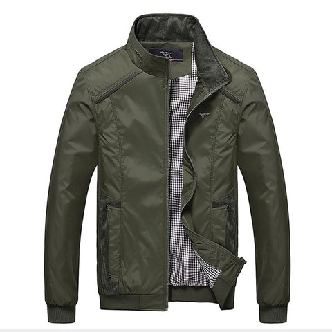 Military Slim Fit Polo bomber Jacket  (2 colors)