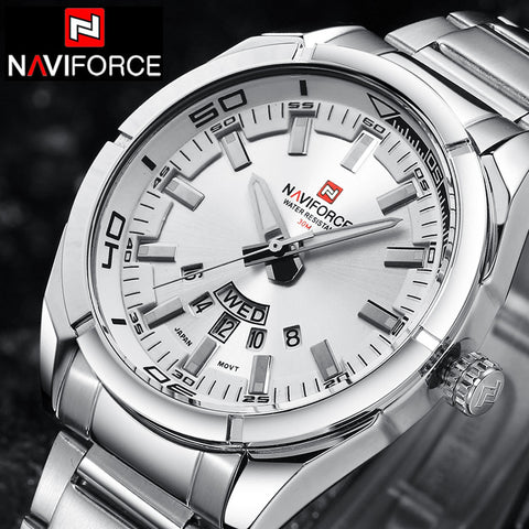 Luxury  Stainless Steel Army Wrist Watch