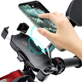Motorcycle Phone Holder With Wireless Fast Charger