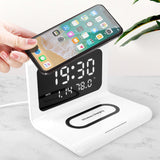 Multifunctional 10W Qi Wireless Charging Pad With Clock