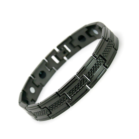 PET-  Black Stainless Steel Bracelet