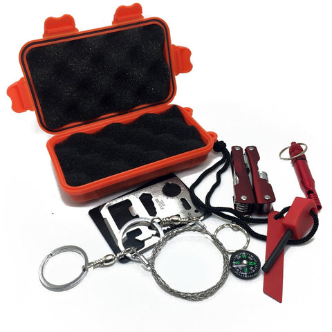 Portable SOS Emergency Survival Kit