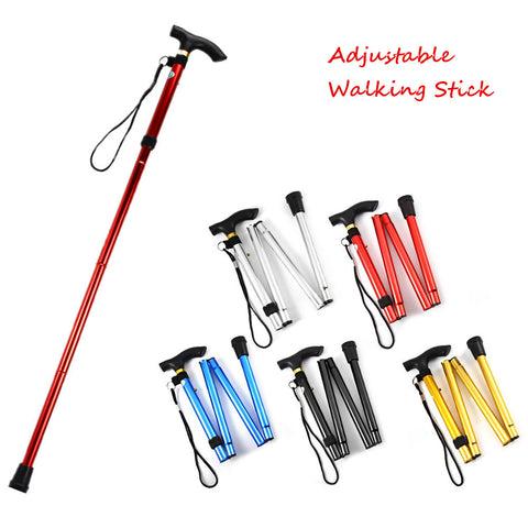 Hiking Ultralight 4-section Adjustable Canes