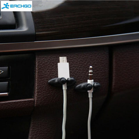8-PCS CAR CABLE HOLDERS - Indigo-Temple